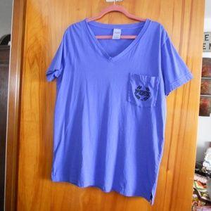 PINK Victoria's Secret S/S Periwinkle T-shirt L